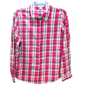 Allison Daley Pink Checkered Button Down Size 10